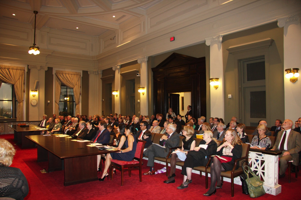 The SCLHS Annual Meeting, held October 21, 2013 at the Louisiana Supreme Court, was attended by over 100 people.  The Annual Meeting of the Membership was convened by President Donna D. Fraiche.
