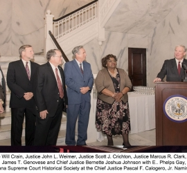 Chief Justice Pascal F. Calogero, Jr. Courthouse Building Naming Ceremony – December 10, 2019
